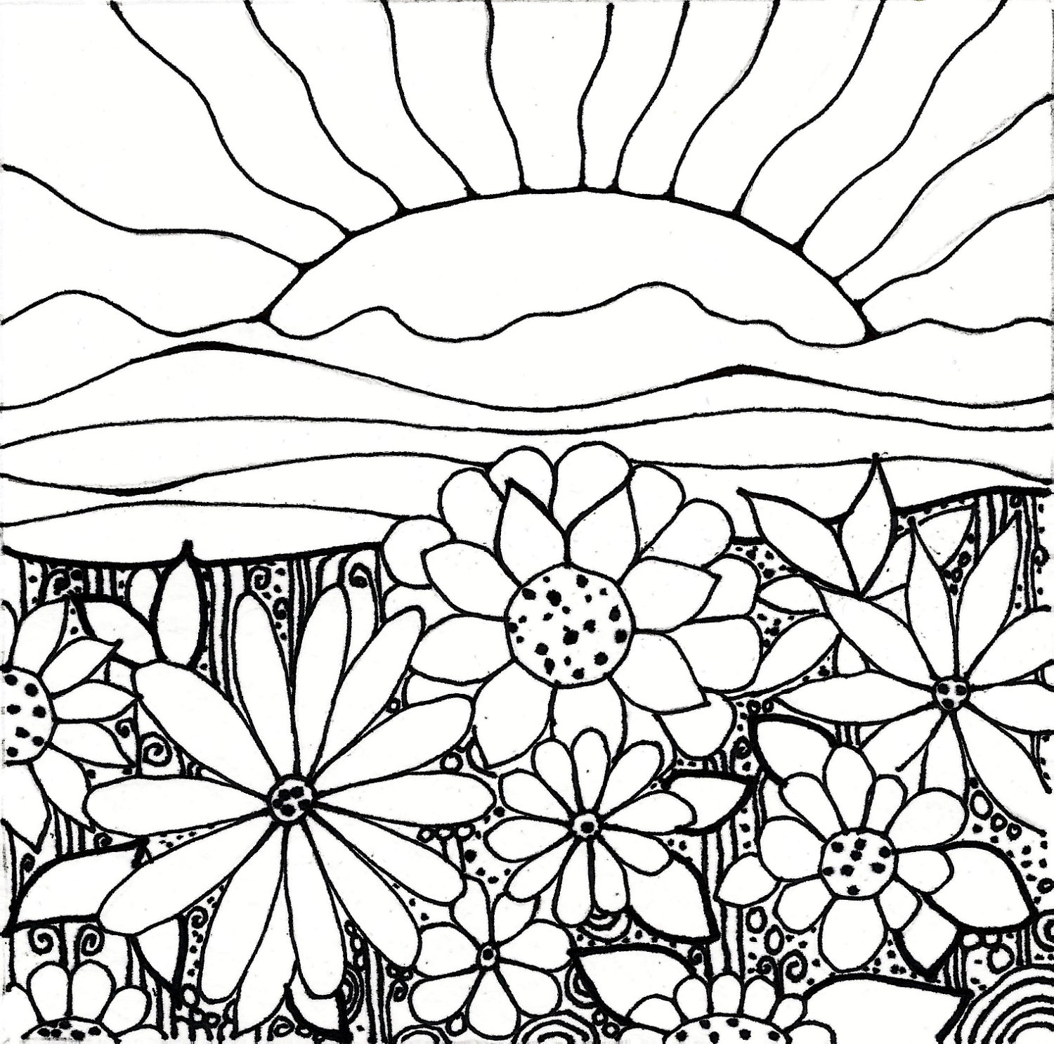 1500x1485 Garden Coloring Pages