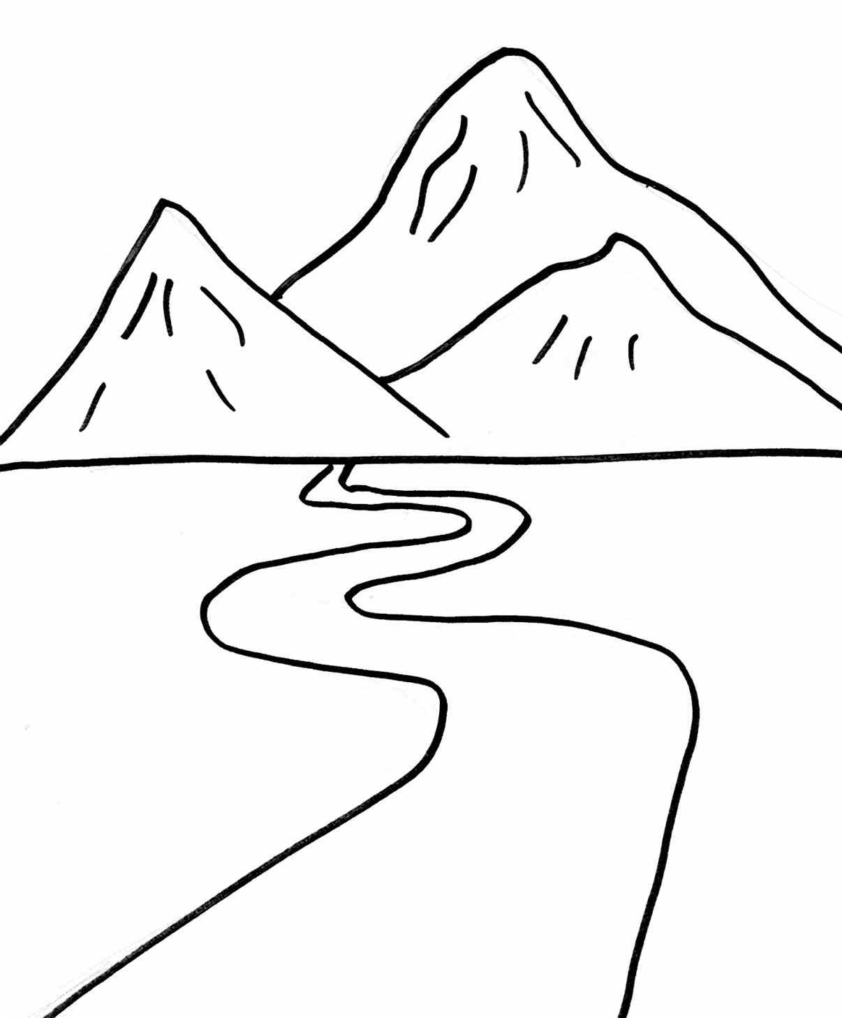 1206x1458 Ideas Free Simple Landscape Coloring Pages Coloring Pages