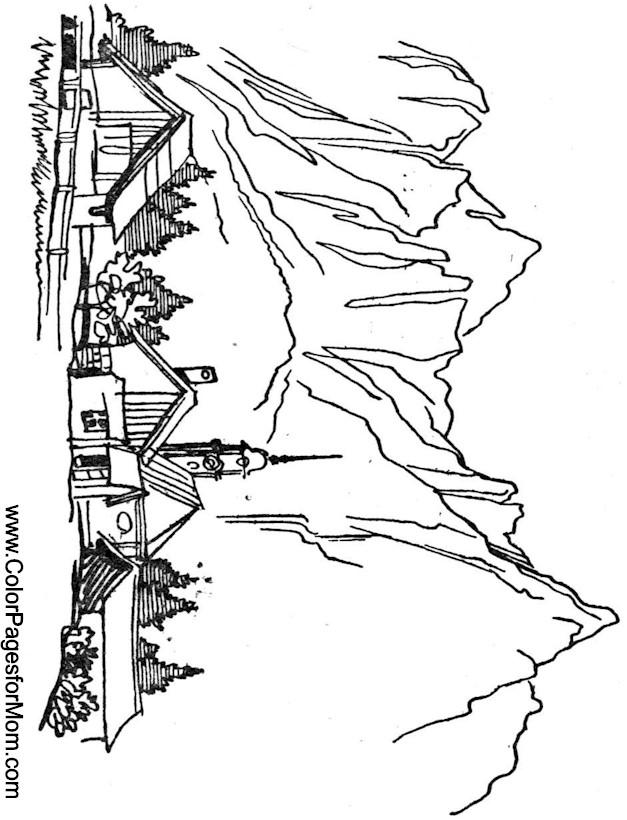 627x820 Landscape Coloring Page 18