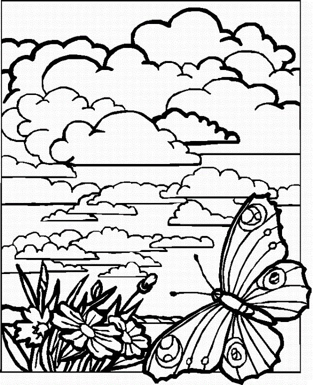 627x770 Ideas Detailed Landscape Coloring Pages For Adults