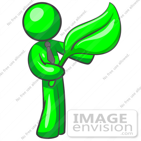 450x450 Clip Art Graphic Of A Green Guy Character Wearing A Business Tie