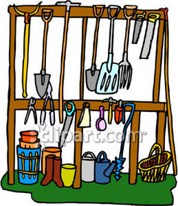 259x300 And Landscaping Tools In A Shed