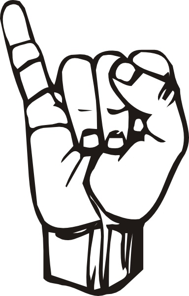 384x599 Sign Language I Clip Art Free Vector In Open Office Drawing Svg