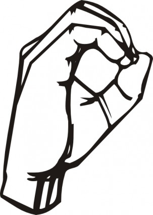 303x425 Sign Language O Clip Art Vector Clip Art Free Vector Free Download