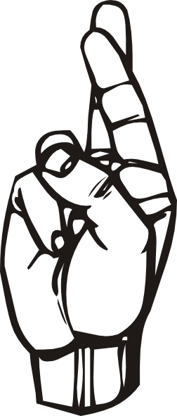 252x591 Sign Language R Clip Art Free Vector In Open Office Drawing Svg