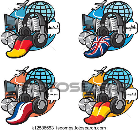 450x428 Clipart Of Learning A Foreign Language K12586653