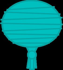 270x299 Teal Paper Lantern Clip Art