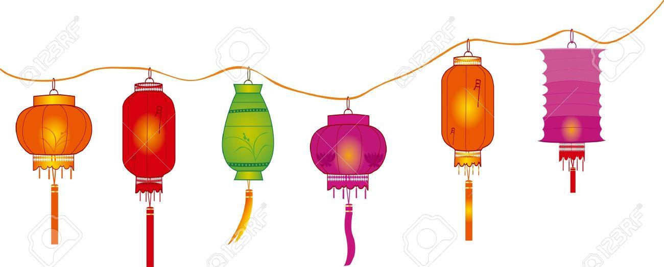 1300x524 Decoration Clipart Lantern