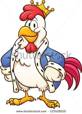 337x470 Cartoon Chicken Cartoon White Chicken. Vector Clip Art