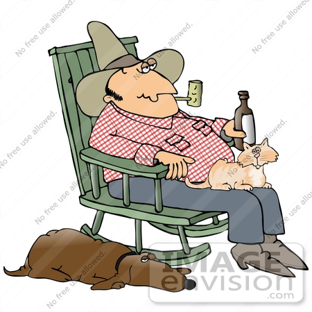 450x450 Clip Art Graphic Of A Loyal Hound Dog Sleeping With One Eye Open