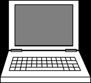 299x273 Laptop Clipart Black And White Clipart Panda
