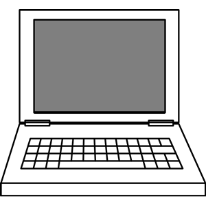 300x300 Laptop Clip Art Black And White Free Clipart Images
