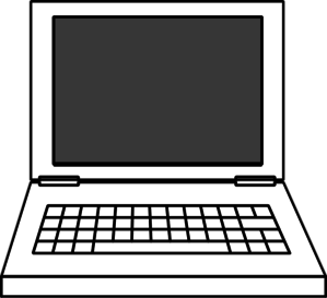 299x273 Laptop Clipart Black And White