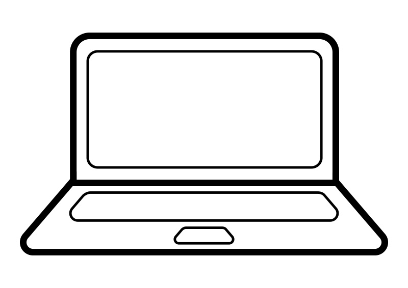 800x566 Laptop Clipart Outline
