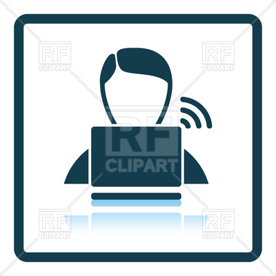 400x400 Man With Laptop Icon Royalty Free Vector Clip Art Image