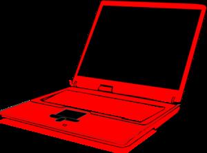 300x222 Red Computer Clip Art