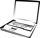 165x156 Computer Clipart Black And White