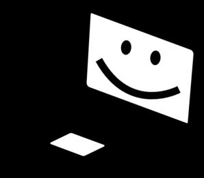 298x261 Happy Laptop Clip Art