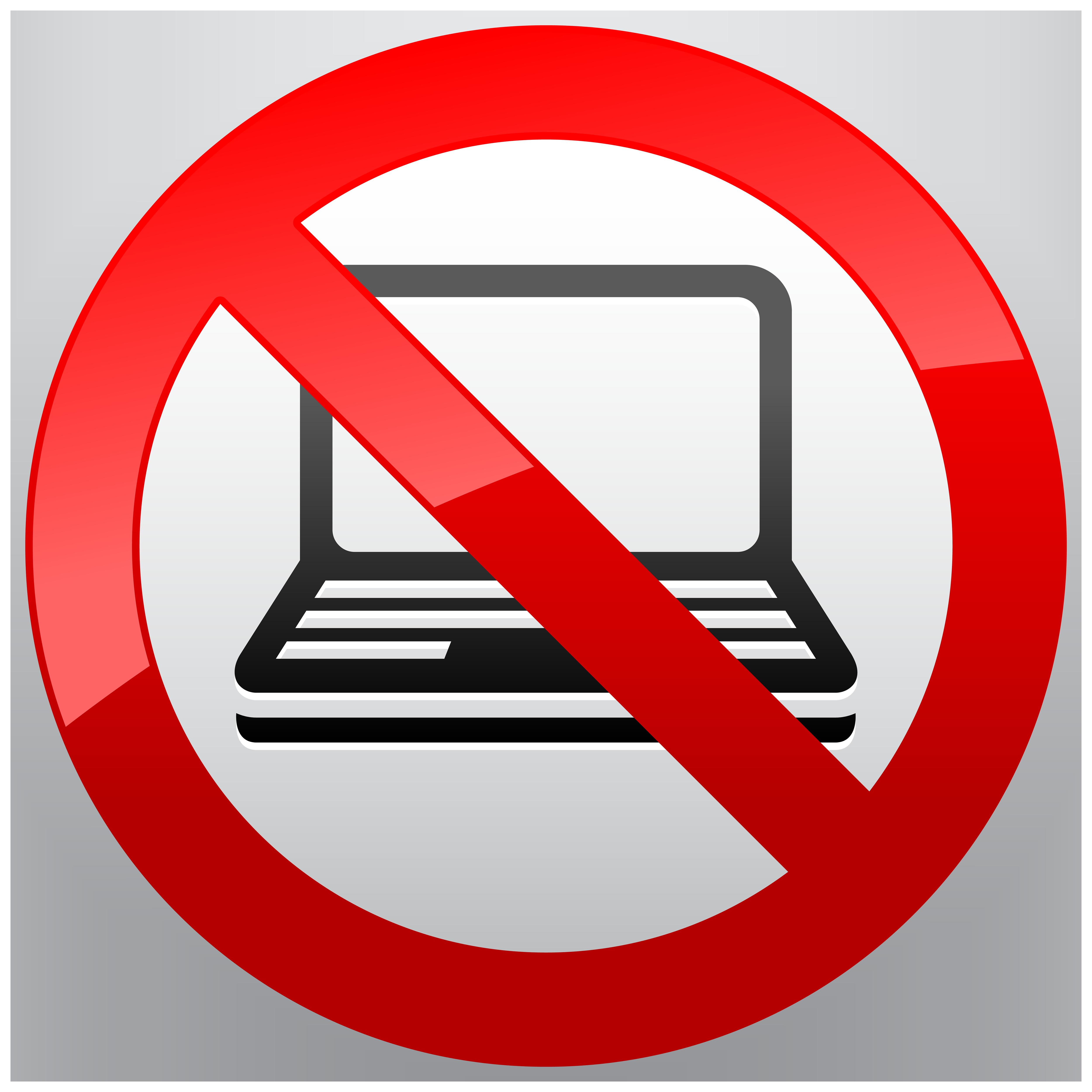 5000x5000 No Laptop Prohibition Sign Png Clipart