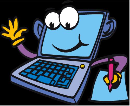 500x405 Computer Cartoon Laptopputer Clipart