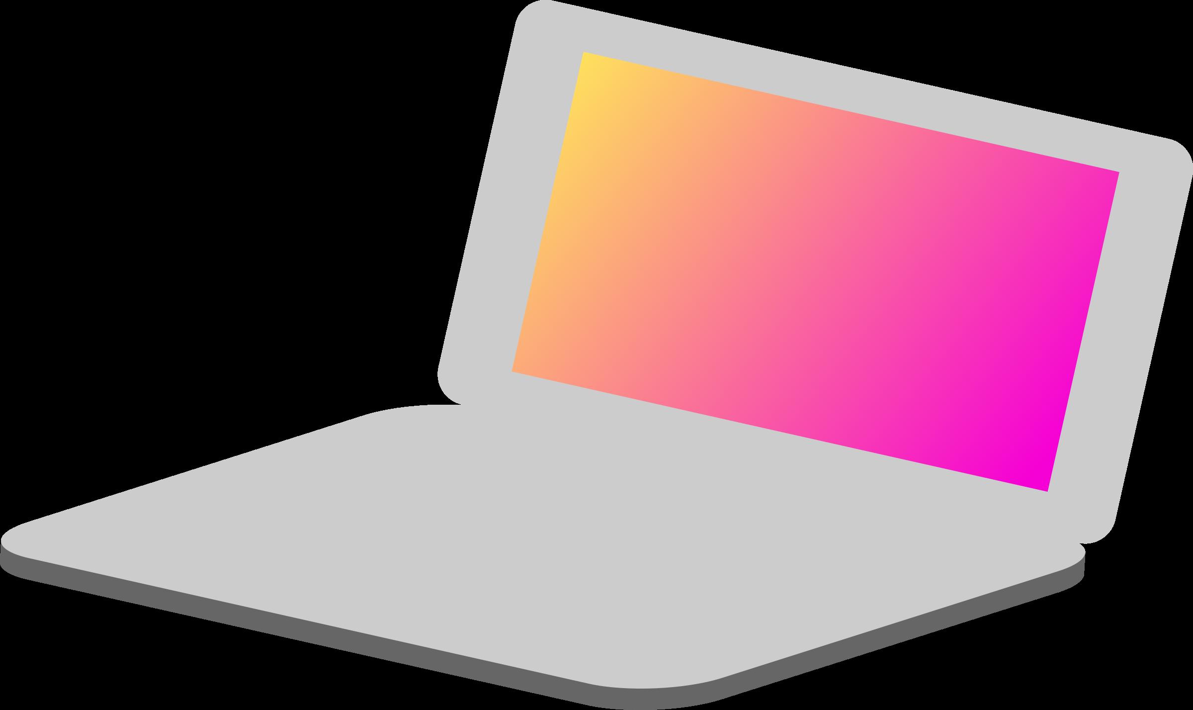 2400x1428 Laptop Clipart Simple