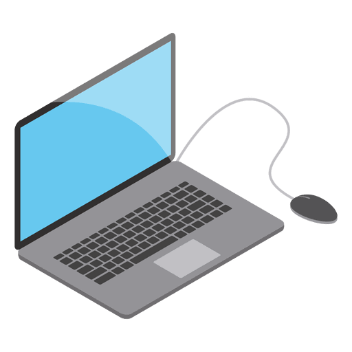 512x512 Isomeric Laptop With Mouse