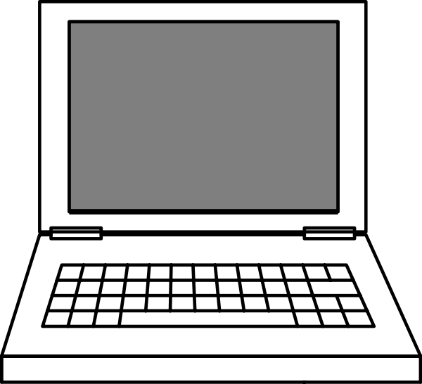 600x546 Laptop Of Vectorel Png Clip Arts For Web