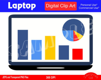 340x270 Laptop Clipart Etsy