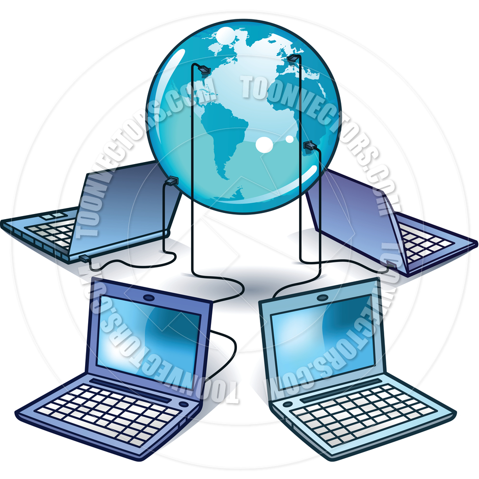 940x940 Computer World By Meshaq2000 Toon Vectors Eps