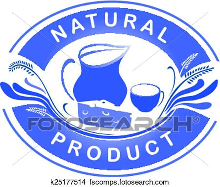 450x383 Clipart Of The Emblem Of The Natural Product. Dairy Farm Product