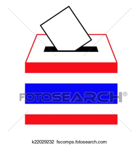 450x470 Clipart Of Vote Label In A Slot Of Box K22029232
