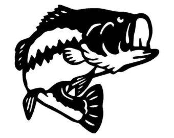 340x270 Largemouth Bass Fish Watercolor Print By Diana Turner Wall