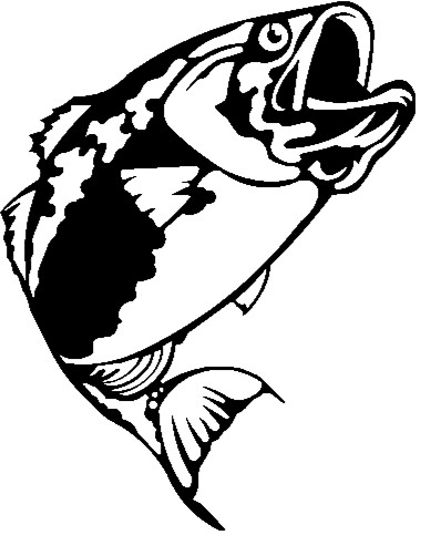 380x483 Largemouth Bass Outline