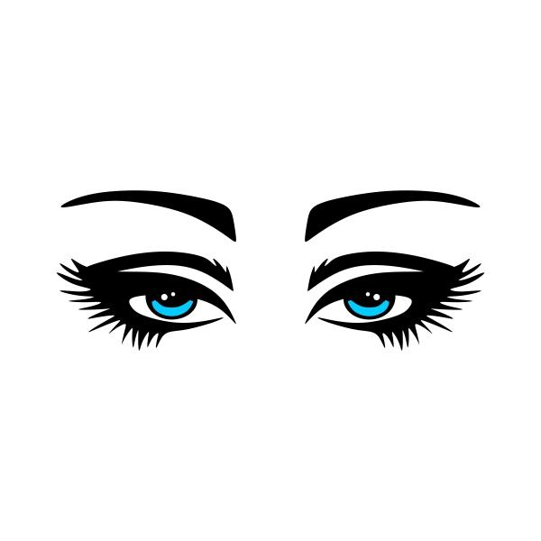 600x600 Eye Lashes Cuttable Design