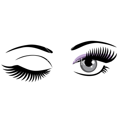 380x400 Eyelash Clipart Cartoon