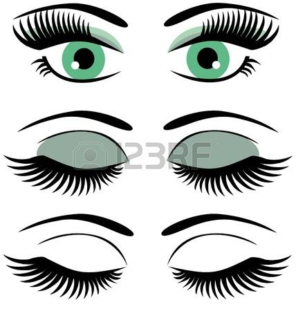 428x450 Eyelash Clipart Closed Eye