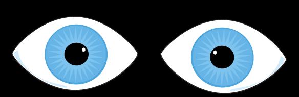 584x190 Cartoon Blue Eyes Clipart With Eyelashes