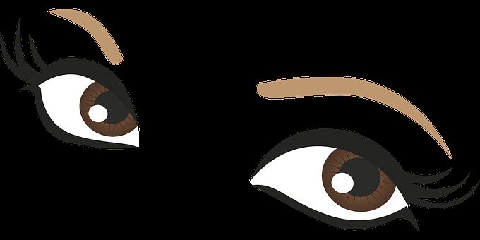 680x340 Brown Eyes Clipart Lash Clipart