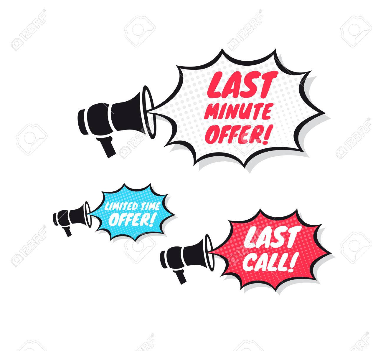 1300x1192 Last Minute Offer, Limited Time Offer Amp Last Call Megaphone Icons
