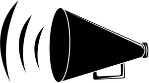 300x168 Megaphone Clipart Cheerleading Free Clipart Images 2