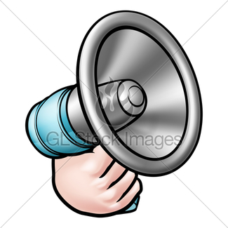 325x325 Cartoon Of Man With A Megaphone Gl Stock Images
