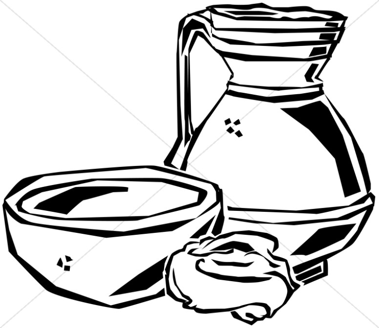 776x672 Jesus Washing Feet Maundy Thursday Clipart