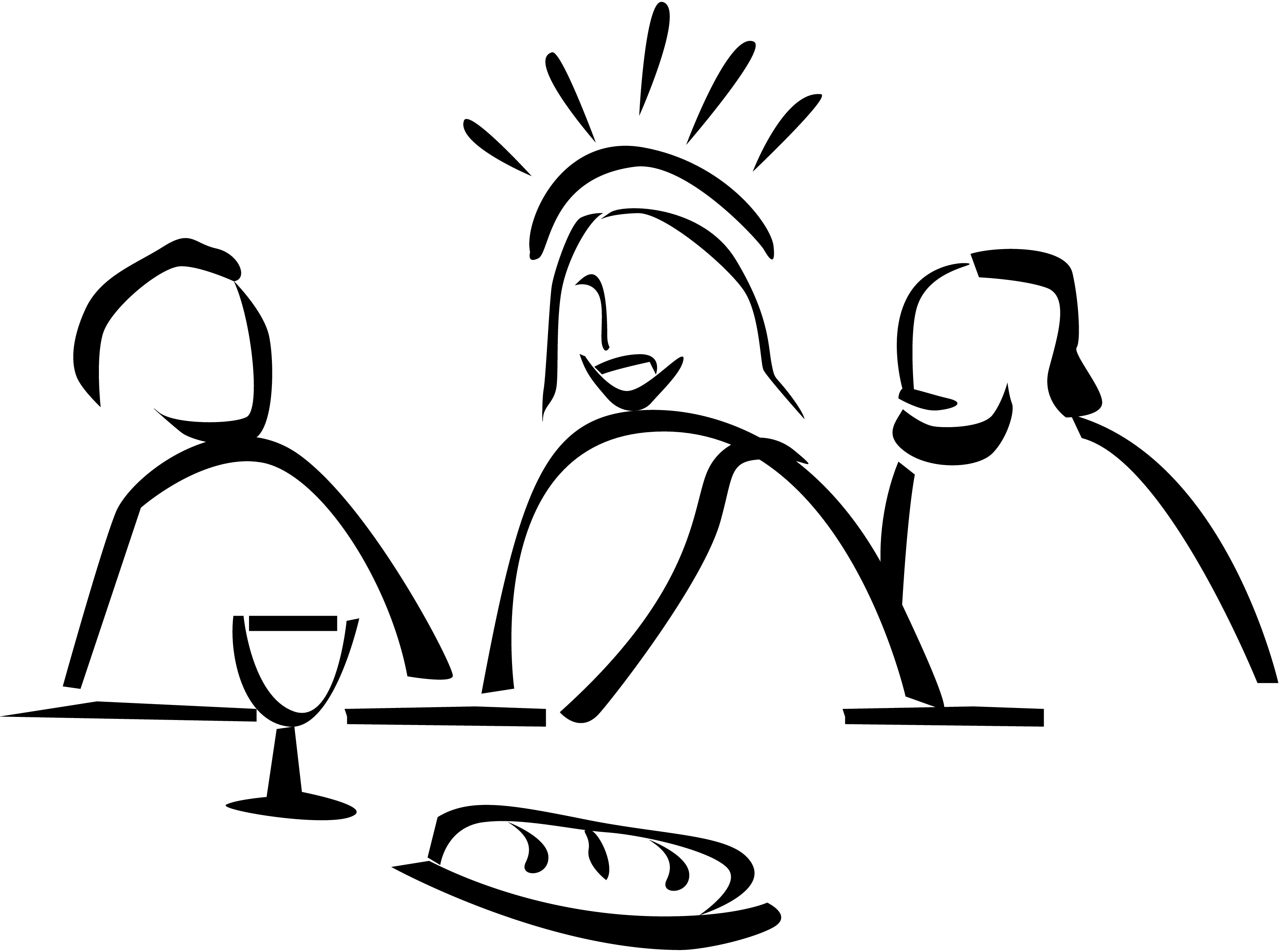 3300x2454 Lord Supper Clipart