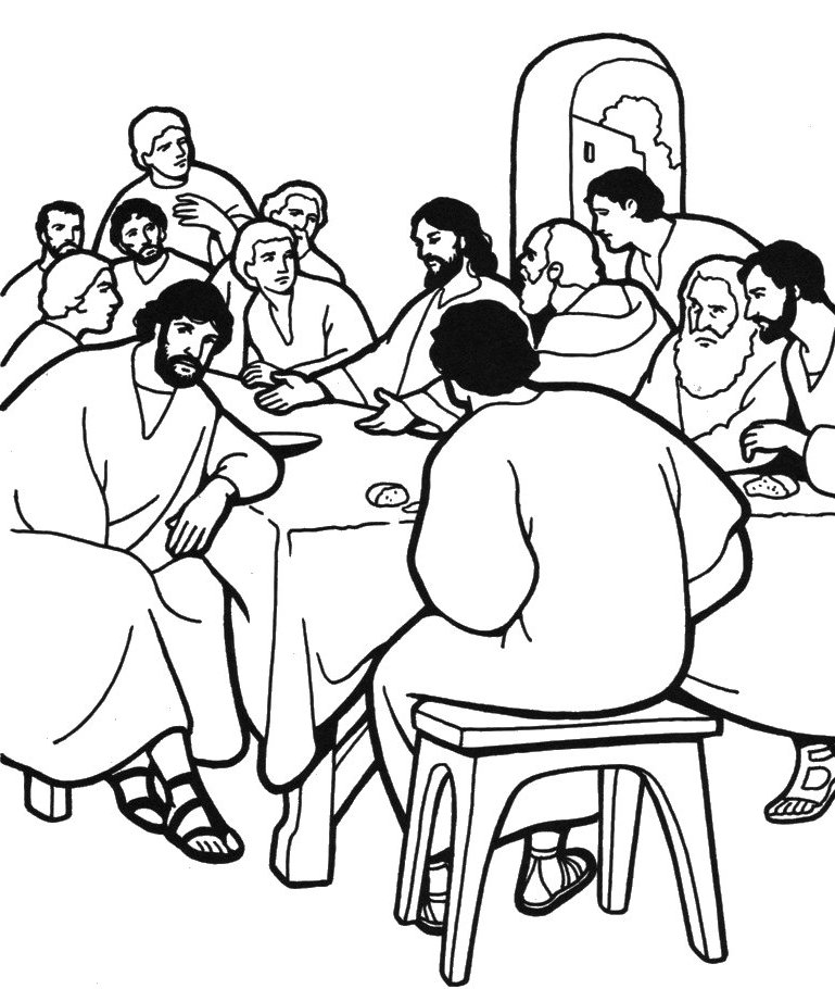 769x910 The Last Supper Coloring Page Many Interesting Cliparts
