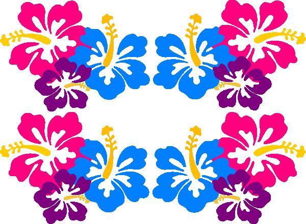 600x440 Luau Flowers Clip Art Borders Free Clipart