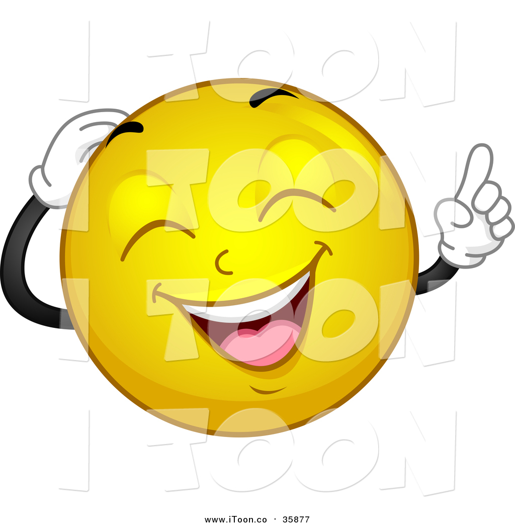 1024x1044 Royalty Free Cartoon Of A Smiley Laughing By Bnp Design Studio