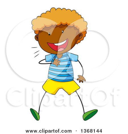 450x470 Clipart Of A White Stick Boy Rolling On The Floor And Laughing