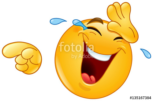 500x329 Laughing With Tears And Pointing Emoticon Stock Image And Royalty