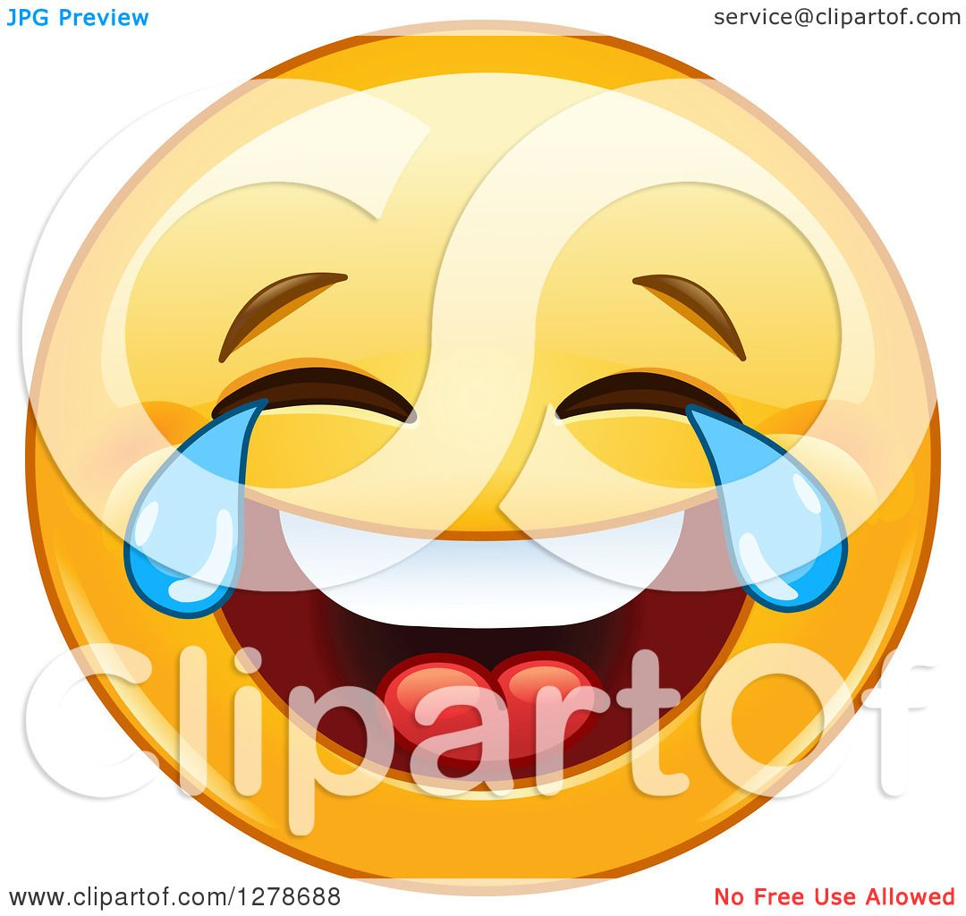 1080x1024 Clipart Of A Yellow Smiley Face Emoticon Laughing So Hard He39s