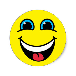 324x324 Custom Laughing Smiley Face Stickers Zazzle.ca